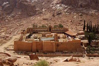 The ancient St Catherine's Monastery in the Sinai.
