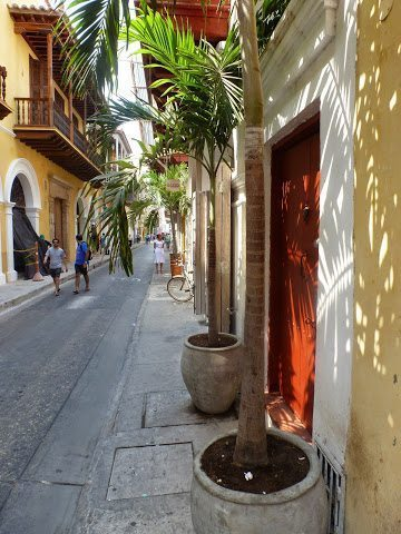 Everything happens on the streets in Cartagena.