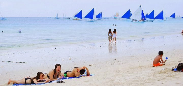 The White Beach in Boracay.
