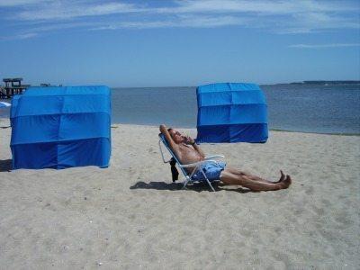 Beach at the Conrad hotel at Punta del Este, Uruguay.