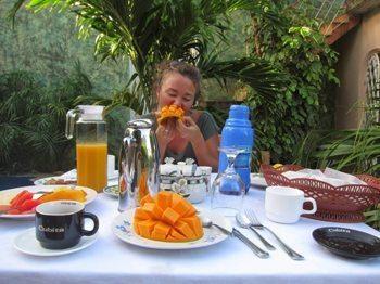 Breakfast at a casa particular in Havana.