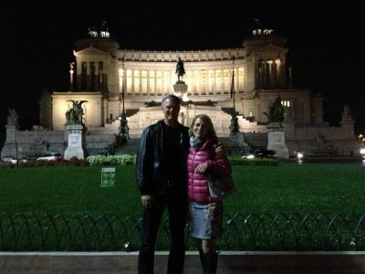 John and his friend Penny in beautiful Rome.