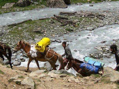 A supply caravan in Kashmir, India. Bad Mike photos.
