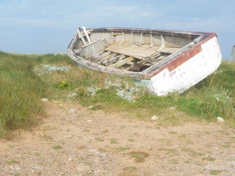 An old boat in the Magdalen Islands in Quebec. Cindy Bigras photos.