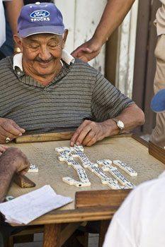 Dominoes in Cuba. Matthew Kadey photo.