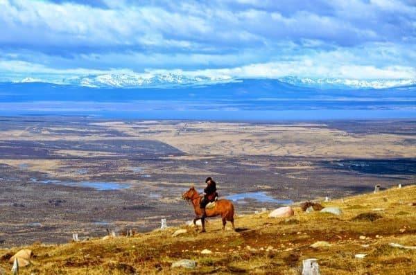 A gaucho leads a horseback ride in wild Patagonia. Keith Hajovsky photos.