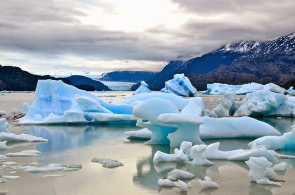 Glaciers in Torres del Paine National Park.