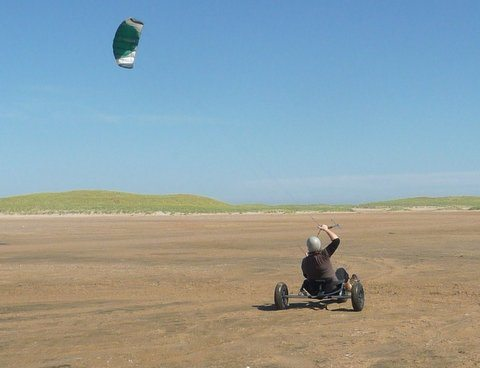 Kite buggy action on the beach!