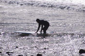 Surfer in Ventura, California. Max Hartshorne photo.
