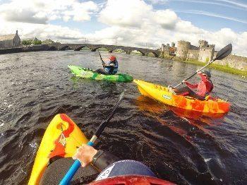 Cindy paddling in Limerick, Ireland.