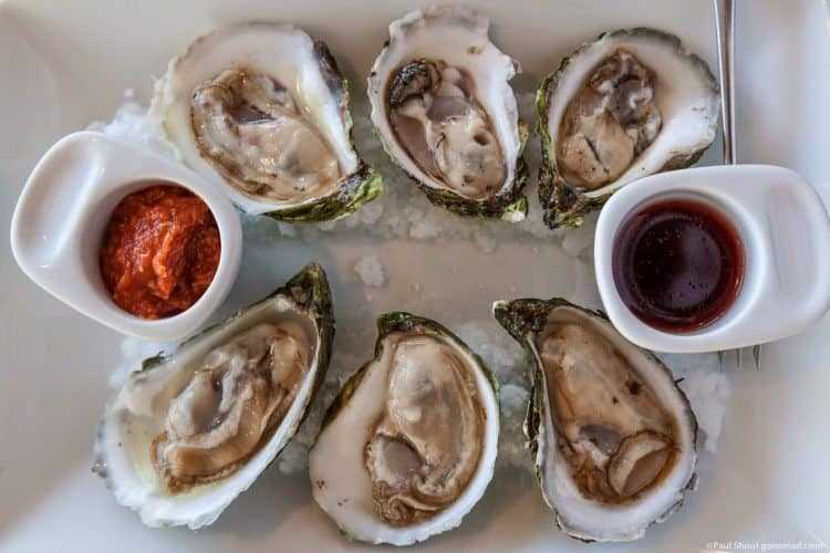 PEI Colville Bay oysters.