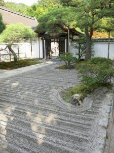 Zen garden in Kyoto.