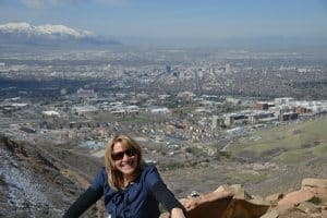 Sonya Stark Travel Writer and Videographer, Wasatch Mountains.