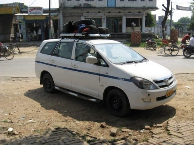 Babu's taxi, the way to get to Nepal after the flight was cancelled. Denise LaFountaine photos.