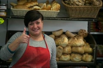 Alessandra, the bread woman. John Henderson photos.