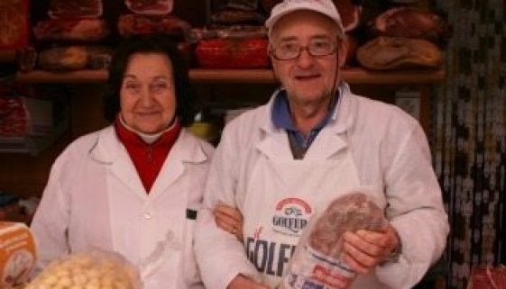 Lina and Enzo Lazzerini have manned their cheese and meat shop in Testaccio for 25 years.