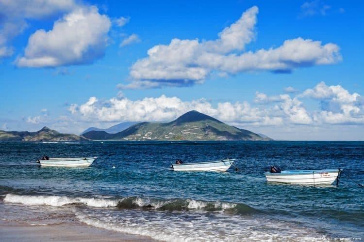 On the beach in Nevis. Photos by Paul Shoul