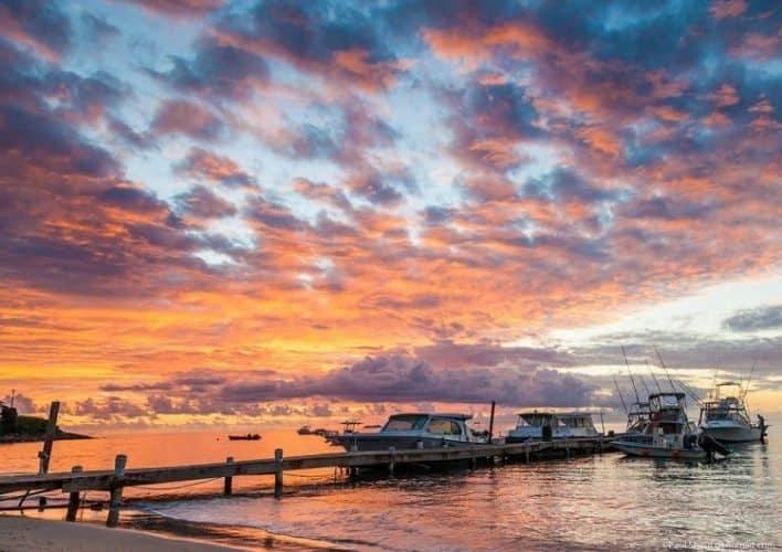 Sunset at Oualie beach in Nevis. Paul Shoul photos.