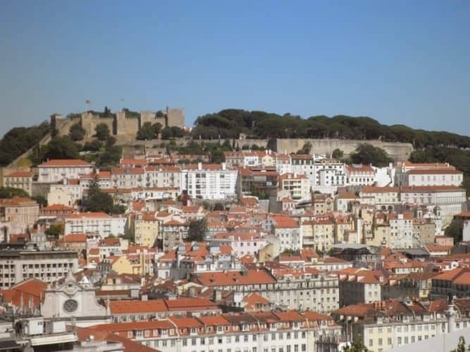 Castle of St Jorge in Lisbon. Neil Middleton photos.