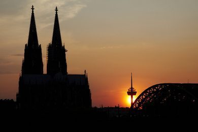 The famous cathedral of Cologne.