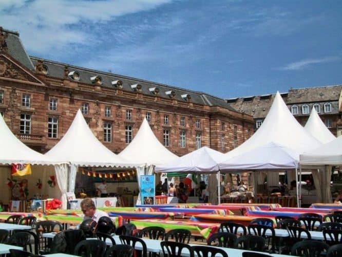 A food festival in Strasbourg.