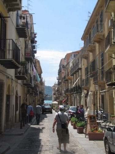 The narrow streets of Palermo.