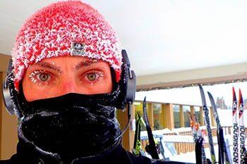 Minus thirty eight degrees xc skiing