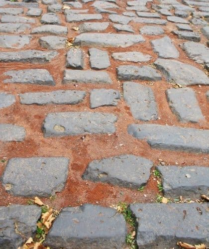 The old Roman road in Cologne.