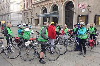 Taking a bike tour with a group can make a solo road trip less lonely.