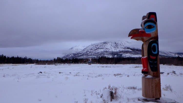A Yukon totem pole