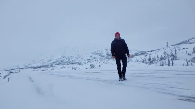 A Yukon white out. Terence Eder photos.