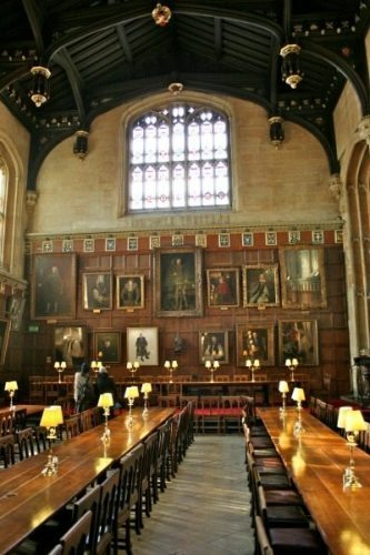 Dining Hall at Christ Church Oxford.