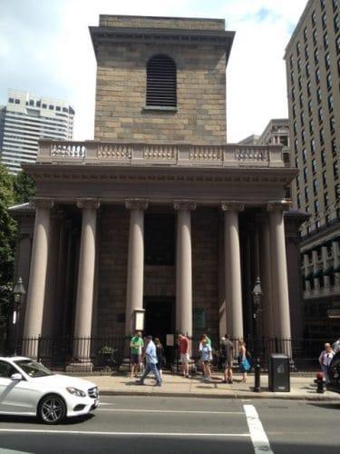 Kings Chapel on Tremont Street.
