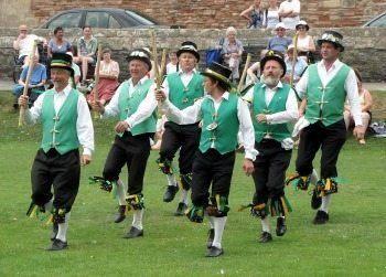 Morris Dancers in Oxford England.