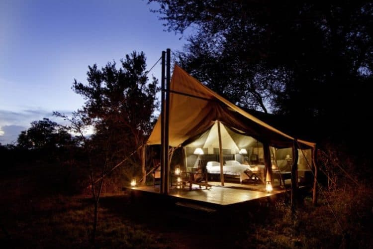 The living accommodations provided in the Timbavati Reserve, SA are reminiscent of what was used by the first explorers of the area.