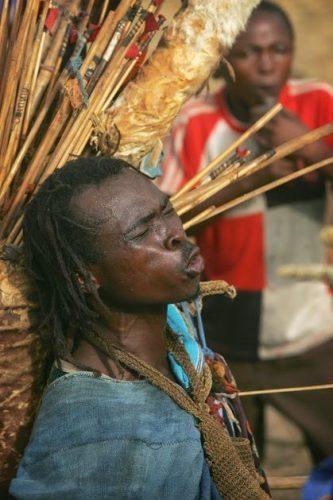 A funeral performer in Natunya Ghana.
