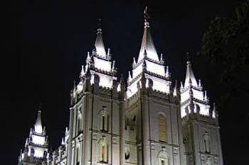 The Mormon Temple and Museum in Salt Lake