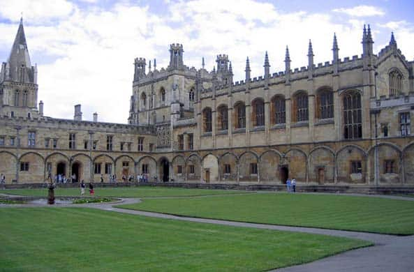 The magnificent Oxford quad in England.