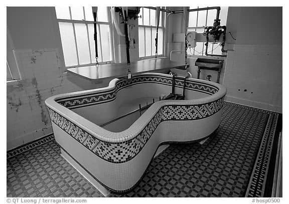 Tile covered bath at Fordyce bathhouse in Hot Springs AR