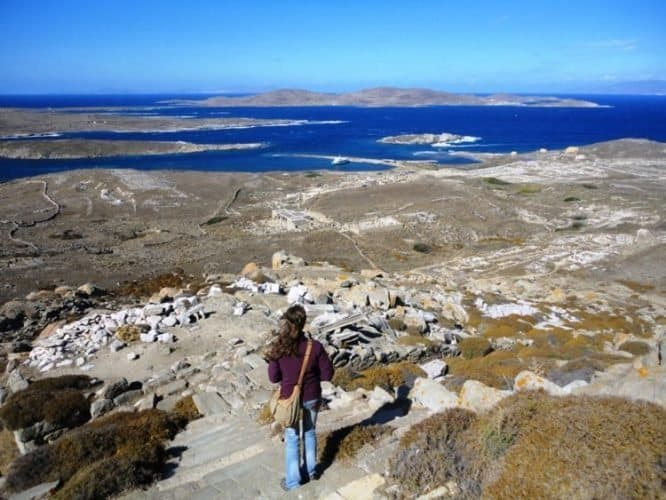 The view from Mount Kynthos in Delos, Greece. Cynthia Ord photos.