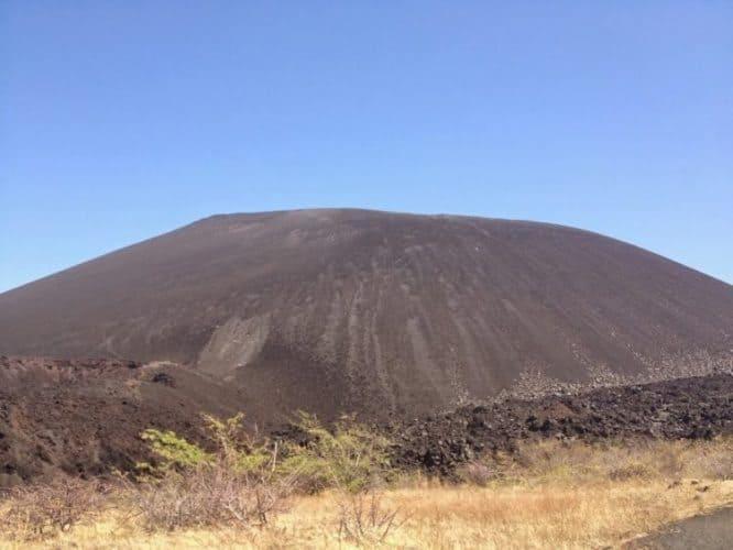Cerro Negro volcano boarding site.