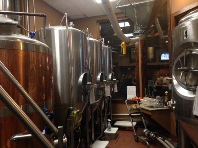The in house brewery at Plattsburgh Brewing.
