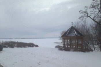 A snow covered view of Lake Champlain. Photos by Erica Garnett
