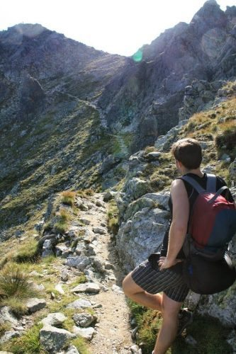 Igor Hubinsky along the trail in the High Tatras - Copy - Copy