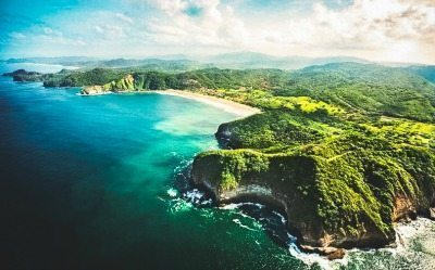 The beach in Nicaragua