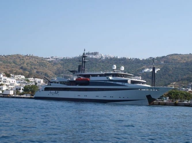 The Variety Voyager in Patmos, Greece.