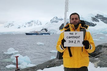 Zaid Mohamedy in Antarctica with Quark Expeditions.