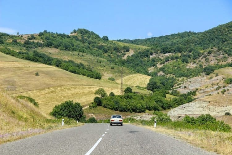 The pretty countryside of Nagorno-Karabakh, an independent nation inside of Armenia. Sarine Arslanian photos.