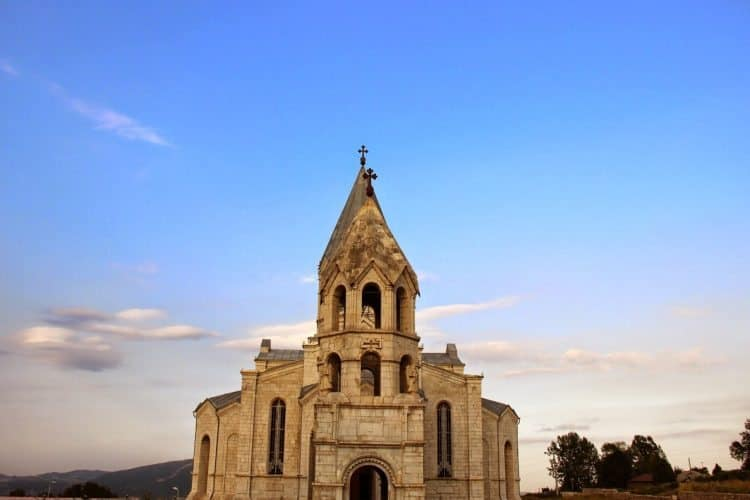 Ghazanchetsots cathedral in Shushi.
