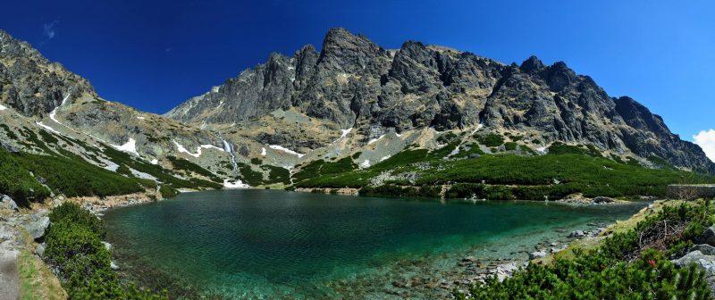 A mountain lake in Slovakia's High Tatras. Time for Slovakia photo.